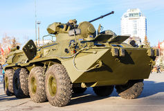 Russian Army BTR-82 wheeled armoured vehicle personnel carrier Stock Photos