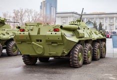 Russian Army BTR-80 wheeled armoured vehicle personnel carrier Stock Images