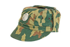 Russian Army Cap. On white background Stock Photo