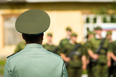 Russian army commander Royalty Free Stock Photography