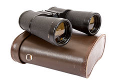 Russian army field binocular. On white background Royalty Free Stock Photos