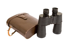 Russian army field binocular. On white background Royalty Free Stock Images