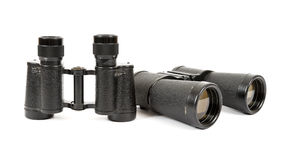 Russian army field binoculars. On white background Stock Photos