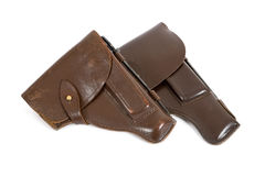 Russian army holsters Stock Image