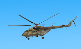 Russian army Mi-8 helicopter Royalty Free Stock Images
