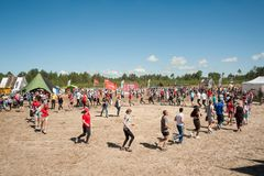 Russian army obstacle course race. Tyumen Stock Images