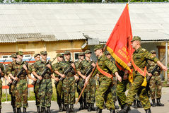 Russian army scene Royalty Free Stock Images