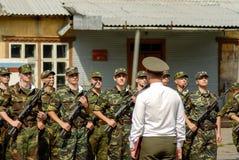Russian army scene Royalty Free Stock Photo