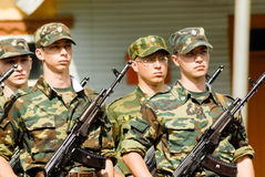Russian army scene Royalty Free Stock Photography