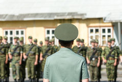 Russian army scene Stock Photography