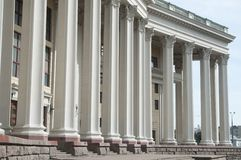 Russian Army theatre, columns Stock Images