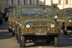 Russian army vehicle UAZ Stock Photo