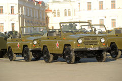 Russian army vehicle UAZ Stock Photos