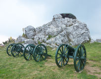 Russian artillery in Bulgaria Stock Photos