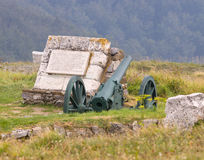 Russian artillery in Bulgaria Stock Photo