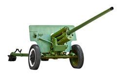 Russian artillery gun - World War II Royalty Free Stock Images