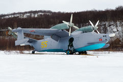 Russian ASW amphibious aircraft Be-12 Royalty Free Stock Photo