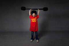 Russian athlete weights lifting Royalty Free Stock Images