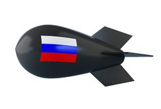 Russian atomic bomb. On a white background Royalty Free Stock Photo