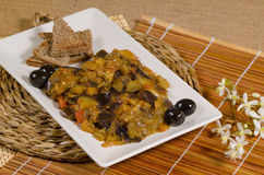 Russian aubergine caviar Stock Photography