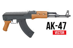 Russian automatic machine rifle AK47. Vector Stock Photo