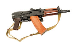 Russian automatic rifle AKS-74U. On white background Royalty Free Stock Photos