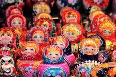 Russian Babushka doll at market in Russia Royalty Free Stock Photos