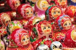 Russian Babushka doll at market in Russia Stock Photography