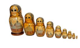 Russian Babushka dolls as nuns Royalty Free Stock Photo