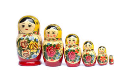 Russian babushka nesting dolls Stock Images