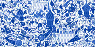 Russian background, pattern with modern and traditional elements Stock Image