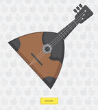 Russian balalaika with  pattern of apples Royalty Free Stock Photography