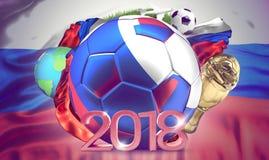 2018 russian ball. soccer football Royalty Free Stock Photos
