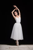 Russian ballerina. Dancing on the stage outdoors Royalty Free Stock Image