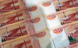 Russian banknotes as background Stock Image
