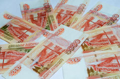 Russian banknotes close up Stock Image