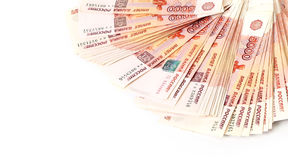 Russian banknotes. Five Thousand Ruble Notes Royalty Free Stock Photography