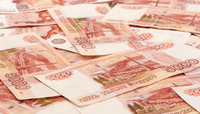 Russian banknotes. Five Thousand Rubles. Background Royalty Free Stock Photo