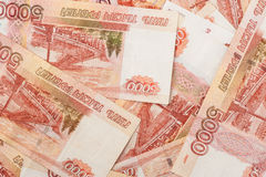 Russian banknotes. Five Thousand Rubles. Background Royalty Free Stock Image