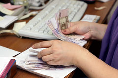 Russian banknotes Stock Photo