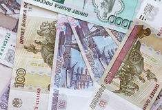 Russian banknotes Royalty Free Stock Photography
