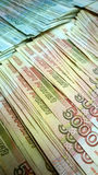 Russian banknotes of one thousand and five thousand rubles. Five thousand in the foreground Stock Photography