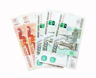 Russian banknotes one thousand and five thousand Royalty Free Stock Photo