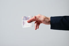 Russian Banknotes Rubles Stock Photography