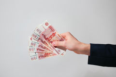 Russian Banknotes Rubles Royalty Free Stock Photo