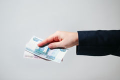 Russian Banknotes Rubles Royalty Free Stock Photography