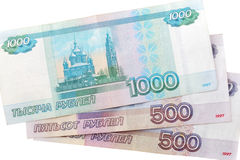 Russian banknotes Stock Photography
