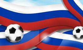 Russian banner soccer football sports 3d illustration balls Stock Image