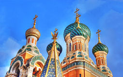 Russian basilica in Moscow red square. Beautiful russian basilica in Moscow red square Royalty Free Stock Photography
