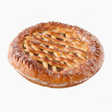 Russian Basketweave Pie. Traditional Russian jam-fileld pie Royalty Free Stock Photo
